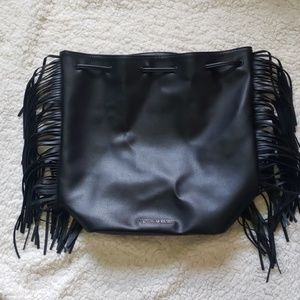 VS drawstring fringe bag